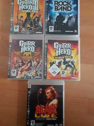 Juegos PS3 Rock Band Guitar Hero