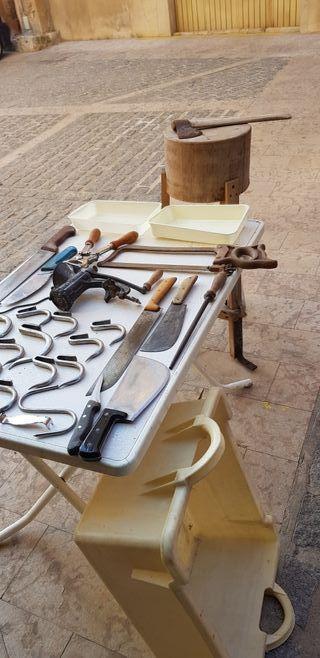 herramientas de carnicería