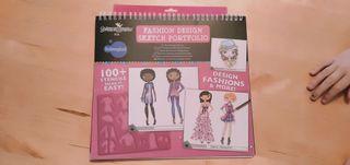 libreta para dibujar y colorear modelos