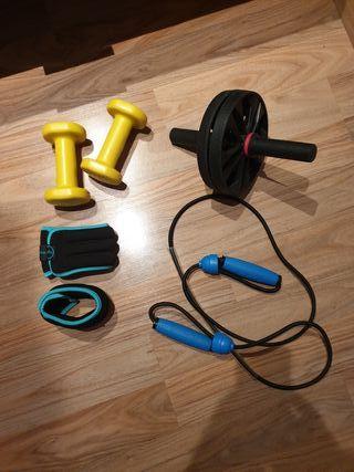 Set de ejercicio en casa