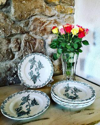 Platos antiguos porcelana francesa