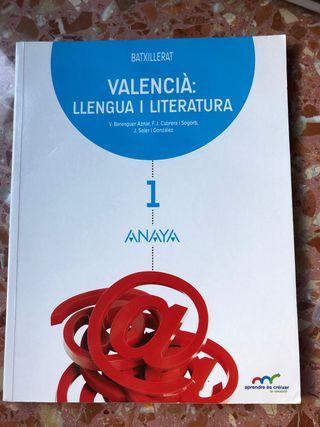 Valencià: llengua i literatura 1