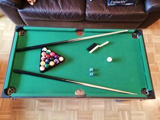 3 juegos en 1 (billar, pin pon, air hockey,)