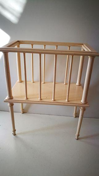 Mueble revistero vintage de madera. xxx mesa sill