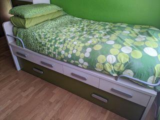Somier madera dos camas