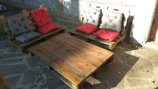 muebles jardin de palets