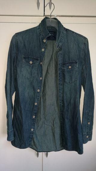 Bershka Blue Jean Shirt