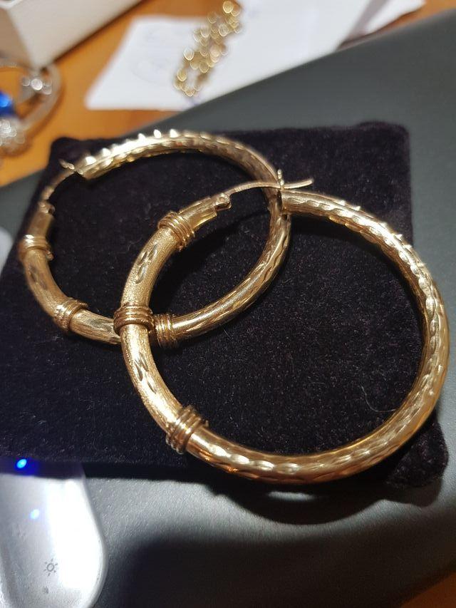 pendientes argollas oro
