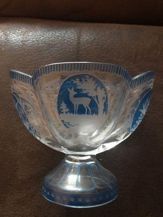 Copa decorativa de cristal sueco