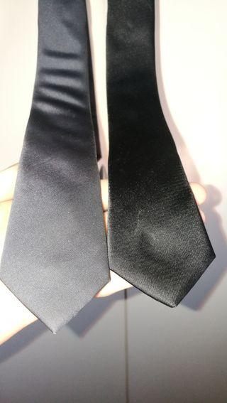 Pack x2 Ties (Black and Grey)