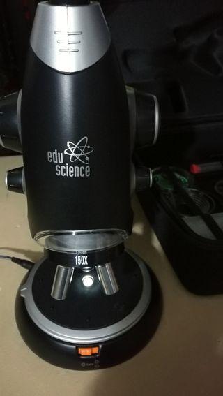 microscopio eduscience 150x 600x 900x