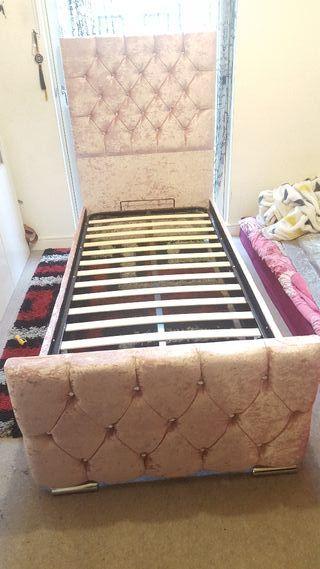 pink gas lift ottoman storage bed