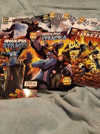 Comics Marvel Xmen y Lobezno en grapa