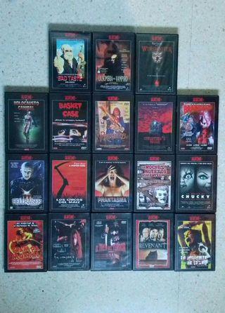 Lote 18 Peliculas de Miedo DVD