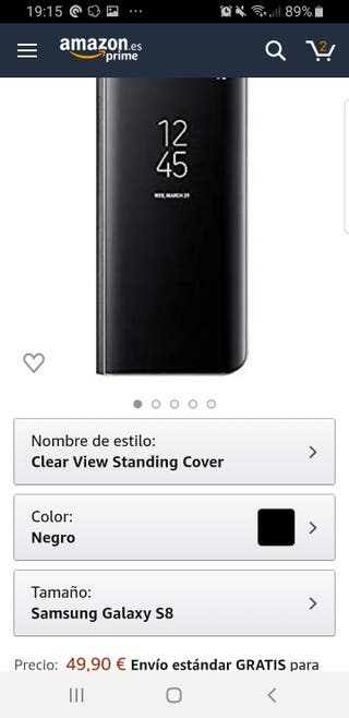 Clear View Standing Cover Original Samsung S8