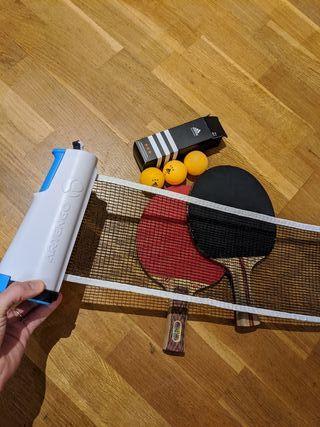 Pack ping pong: Palas, red y pelotas