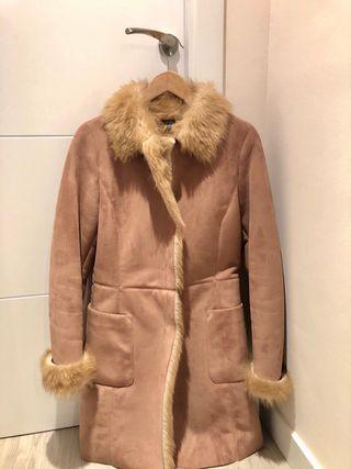 Abrigo piel vuelta talla M