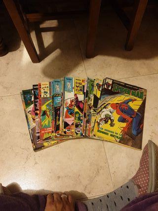 cómics antiguos fórum y spider man etc...