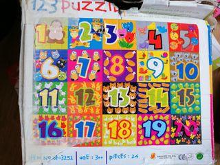 puzzle numeros goma espuma