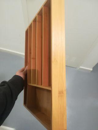 Organiza cubiertos (cubertero) bambú ecológico