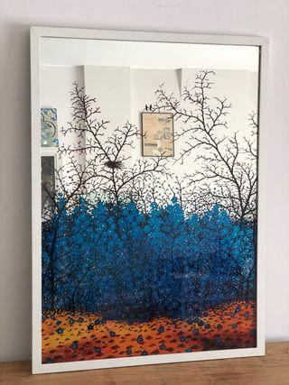 Cuadro-espejo decorado 53 x 73
