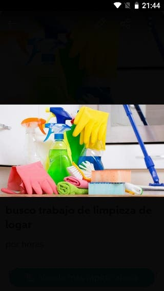 busco trabajo de limpieza pisos casas y