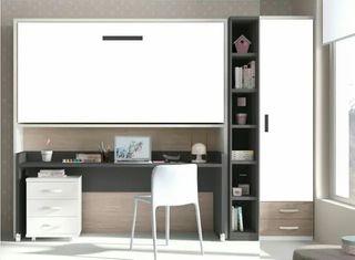 Cama abatible con escritorio extraible mp