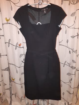 vestido negro lápiz H&M