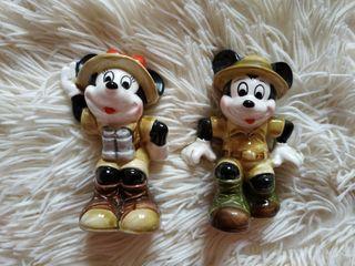 Minnie y Mickey de porcelana exploradores