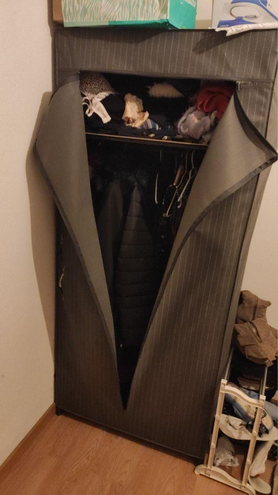 armario tela con balda y perchero