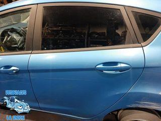 Puerta trasera izquierda azul Ford Fiesta 5 P 2009