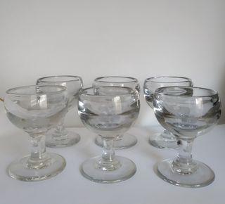 12 copas de cristal vintage