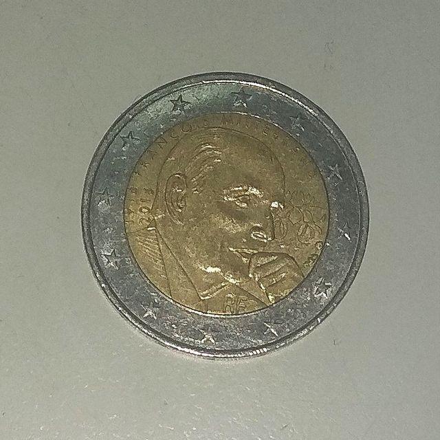 moneda 2 euros Francia 2016 Mitterrand