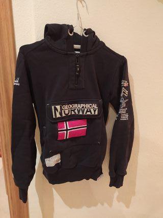 Sudadera negra Geographical Norway