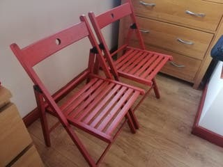Ikea red chairs
