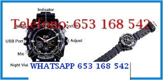 Reloj negro indetectable full-HD