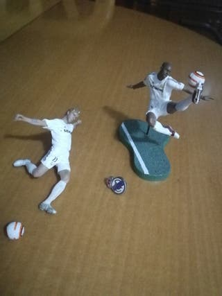 Figuras Real Madrid Beckham y Roberto Carlos