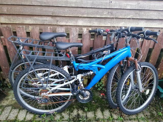 Two mountains bike