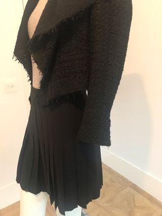 Falda tablas negra Zara