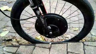 Rueda bicicleta electrica + cubierta kenda