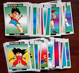 Lote de cartas Dragon Ball de Ediciones Este.