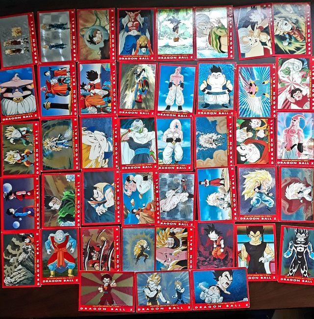 Gran lote de cartas Dragon Ball Z de Panini.