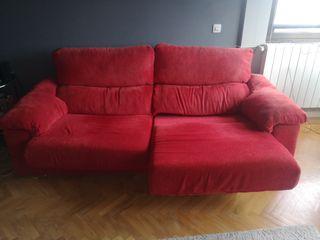 Sofá 3 plazas rojo
