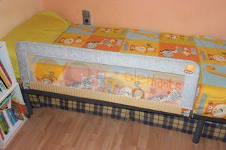 Barrera protectora cama niños