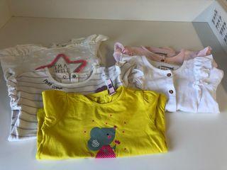Cuatro camisetas y un Jersey de niña.