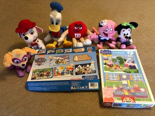 puzzles y peluches