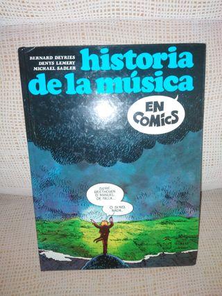 LIBRO HISTORIA DE LA MUSICA EN COMICS
