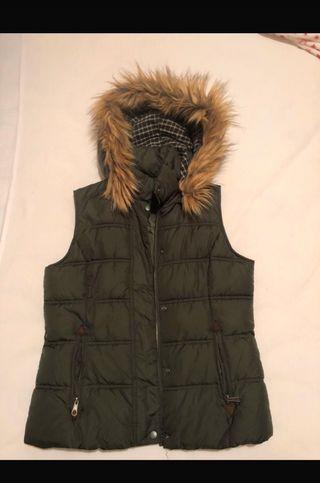 Chaleco abrigo verde militar