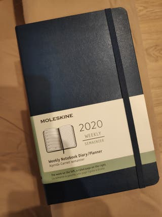 Agenda 2020 Moleskine NUEVA (color azul)
