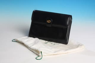 Classic Black Leather Old Gucci